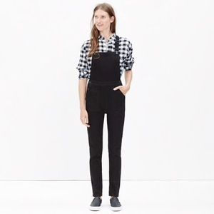 Madewell Black overalls crossback SZ XS Button up